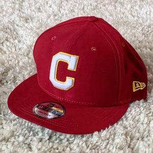 New Era Cleveland Indians SnapBack Hat Red Sample